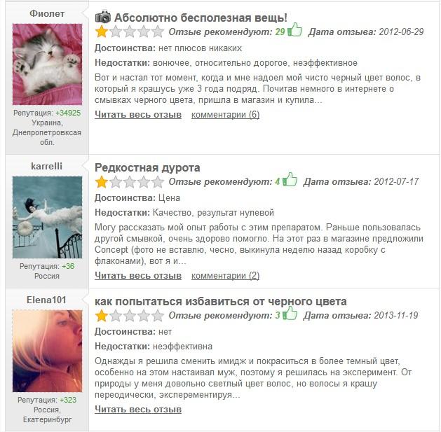 примеры негативных отзывов в интернете