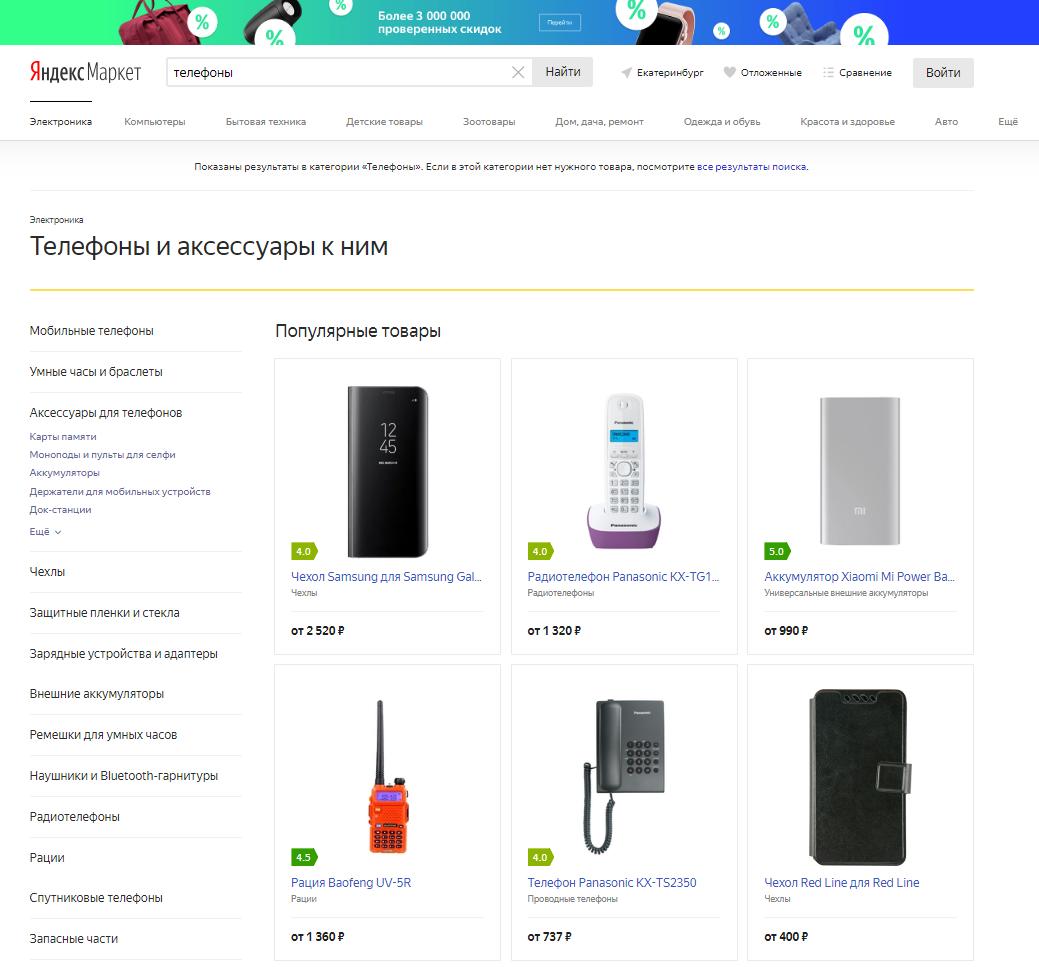 алгоритмы Яндекс.Маркет
